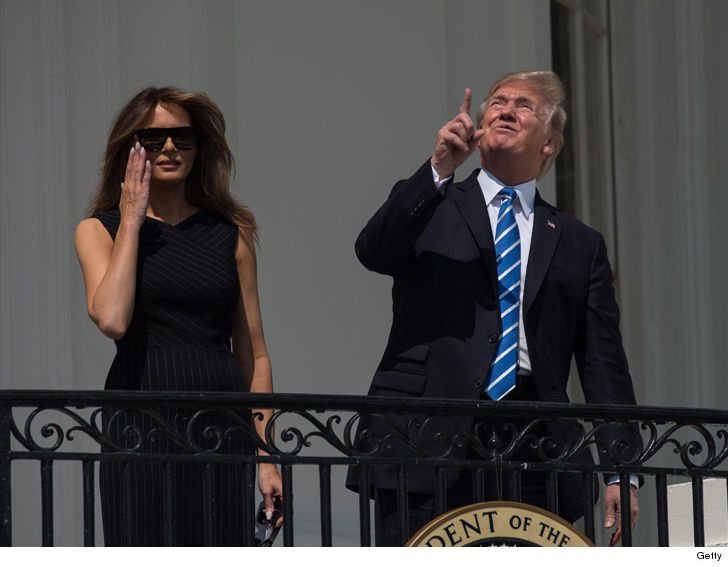 President Trump Stares Directly at Solar Eclipse Without ...
